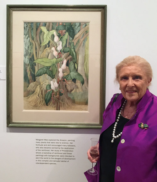 Dr. Shirley Sherwood with Margaret Mee's Philodendron