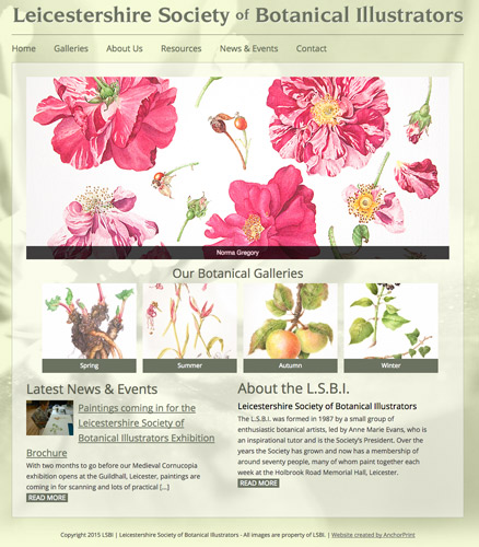 Leicestershire Society of Botanical Illustrators - new website