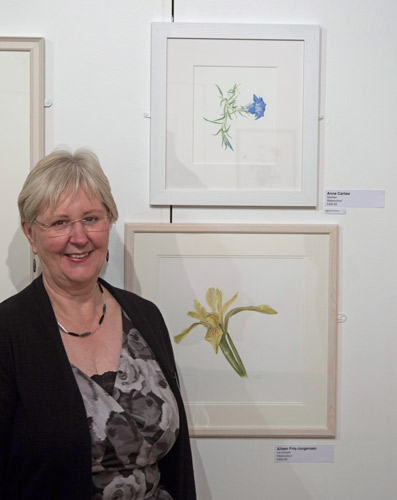 Ann Carlaw with her Highly Commended painting