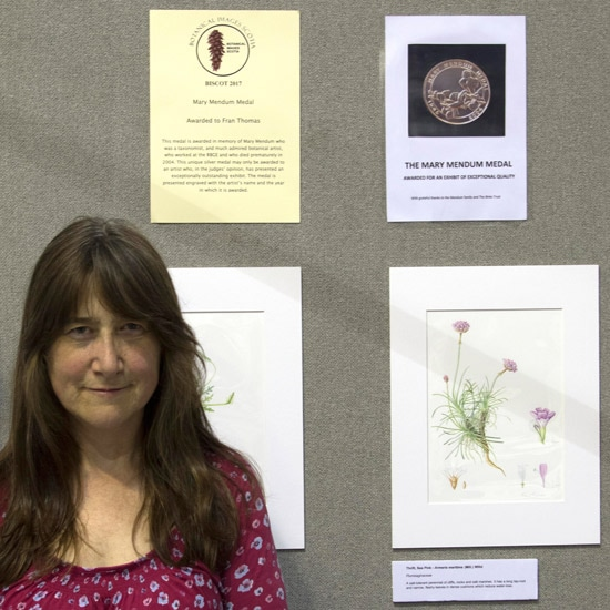 Fran Thomas GM - awarded the Mary Mendum Medal for exceptional quality in an exhibit