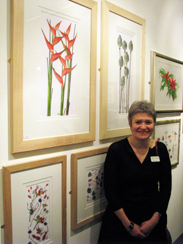 usan Christopher Coulson with her work at the 2009 Annual Exhibition of the Society of Botanical Artists