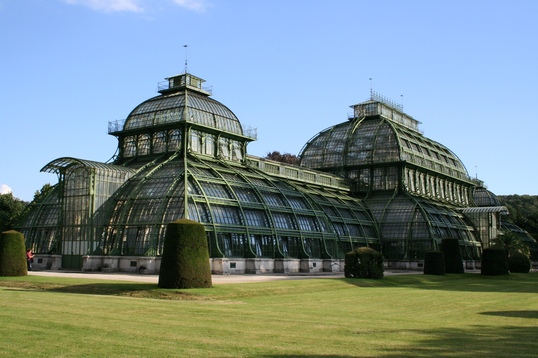 The palm house in the grounds of Schönbrunn Palace in Vienna