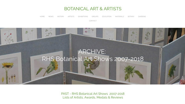 ARCHIVE:  RHS Botanical Art Shows 2007-2018