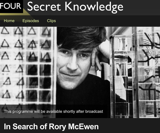 BBC4 In Search of Rory McEwen 23.30 on Monday 11 December 2017