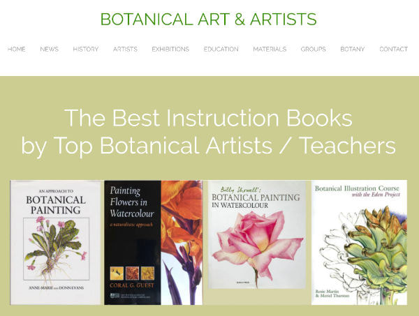 The Best Instruction Books by Top Botanical Artists / Teachers