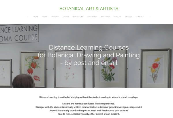 distance learning courses botanical art