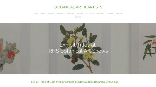 Exhibit Titles at RHS Botanical Art Shows