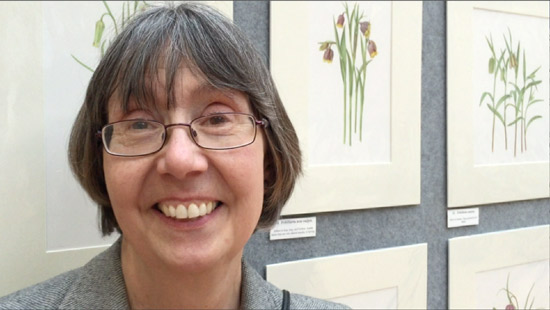 Kathy Pickles GM at the RHS London Botanical Art Show 2015