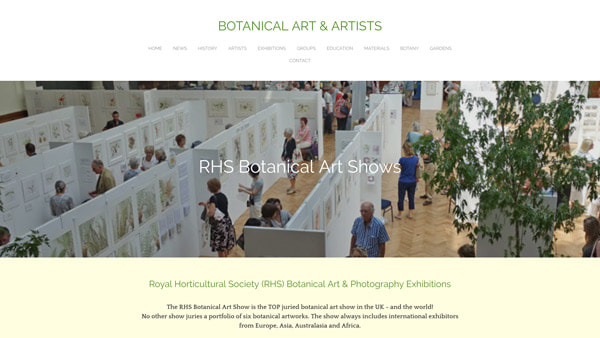RHS Botanical Art Shows - How to exhibit