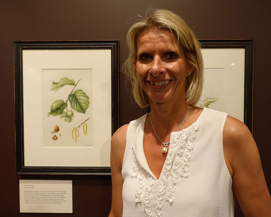 Sally Stawson at the Tradescants' Orchard Exhibition at the Garden Museum