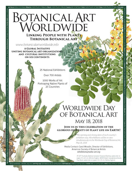 The Worldwide Day of Botanical Art is 18th May 2018